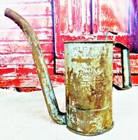 Primitive Antique Brookings 1/2 Gallon Service Gas Station Oil dispensing Can