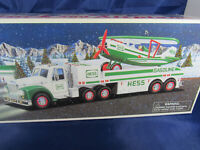 HESS 2002 TOY TRUCK AND AIRPLANE BI-PLANE VEHICLE SET NEW IN SEALED BOX