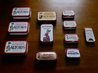 Lot of 11 Altoids Tins Empty incl. Limited Edition Cinnamon Sindy