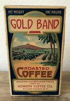 Vintage Gold Band Roasted Coffee Box Howson Coffee Co. Decor Kitchen