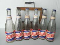 Vintage Pepsi Cola Soda Bottle Wood Crate Carton Carrier + 1940's Tulsa Bottles