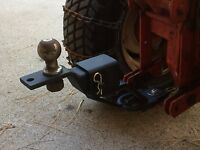 ATV Lawn Garden Tractor Rise & Extend Receiver Hitch Polaris Honda Wheel Horse