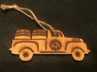 2019 Tennessee Squire Jack Daniels Whiskey Barrel Truck Christmas Ornament Rare