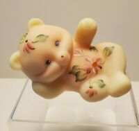 Fenton Hand Painted Burmese Reclining Bear