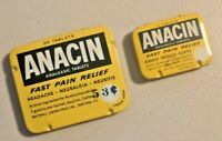 Vintage ANACIN Analgesic Tablets Fast Pain Relief  Tin of 2 -- 1599