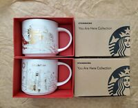 Starbucks China Shanghai You Are Here Holiday Mug Limited Edition Set Of 2