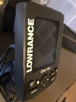 Lowrance Elite-4X Fish Finder Head Only NO TRANSDUCER