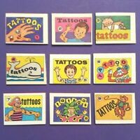 1971 Tattoo Books (Set of 9) VINTAGE CRACKER JACK PRIZES Archive Z-1366 tattoos