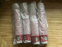 NEW STARBUCKS RED HOLIDAY 200 SAMPLE SIZE PAPER CUPS**SEALED