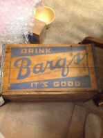 DRINK BARQS ROOT BEER SODA WOOD CRATE NICE SHAPE ITS GOOD