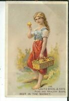 BB-181 Acme Soap, Lautz Bros Co Pure Healthy Soaps, Victorian Trade Card Woman
