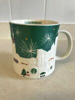 STARBUCKS MUG SHANGHAI GREEN 2015 16 OZ.  EUC