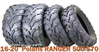 16-20  Polaris RANGER 500 570 ATV Tire Set WANDA 25x8-12 25x10-12 lit Mud