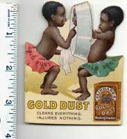 Gold Dust Powder Children Cleaning Pan Black Americana Trade Card AA4832