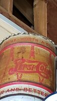 ANTIQUE 1940's PEPSI-COLA SODA SYRUP 10 GALLON DRUM with LID