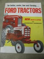 Ford Tractor Sales Brochure 600 700 800 900 Fordson Dexta Power Major 30 pages