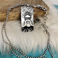 Brighton Girl Should Be Two Things Chic amp; Mysterious Dog Tag Bead Ball Necklace