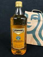 Brand New Starbucks Caramel Syrup 1 Liter 33.8 fl oz Bottle With A Free Pump