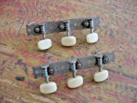 SET OF VINTAGE ELECTRIC GUITAR TUNING PEGS Maybe Harmony or Kay guitar 50s 60s $125.00