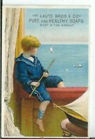 AO-053 NY, Buffalo, Lautz Bros Co Pure Soap Victorian Advertising Trade Card