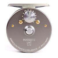Hardy Marquis LWT Reel Size 2/3 - FREE BACKING - FREE FLY LINE - FREE FAST SHIP