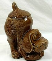McCoy Dog Cookie Jar 0272 USA Vintage Brown Ceramic