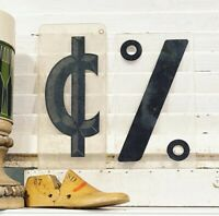 Vintage Acrylic Marquee % Cent Number  Sign Plastic Letter  Retro Industrial