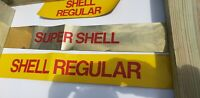 Vintage 1970s 8 NOS  SHELL Motor Oil Gas Pump Service Station Decal Sticker Lot