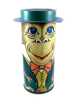 Circus Club Mallows 6 oz Collectible MONKEY Tin Litho Can HARRY HORNE Co
