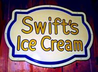 Swift's Ice Cream Soda Fountain Sign