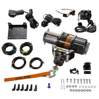 Kolpin ATV UTV Winch Kit Synthetic Rope 12V HD Off-Road Universal 4500lb 25-9455
