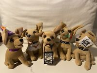 Taco Bell Chihuahua Plush Set Of 5