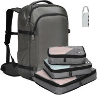 45L Carry on Backpack Waterproof Weekender Luggage Anti-theft 3pcs Packing Cubes