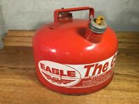 EAGLE THE GASSER GAS CAN METAL VINTAGE RED 2.5 GALLON USA M-21/2