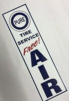 Pure, Gas Station,Free,Air,Sign,on,White Aluminum,Metal
