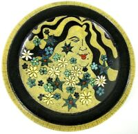 Vintage Charger Plate Rays Woods Liberty Studio Art Pottery Ceramic Handcrafted
