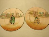 Lot of 2 Royal Doulton Dickens Ware Plates England: Sam & Tom Weller