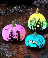 Lighted Halloween Pumpkin Color Changing Haunted House Display Decor 3 Designs