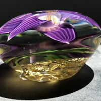 """4.5"""" Signed Barry Farley Art Glass Paperweight"""