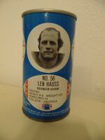 1977 NFL Football Royal Crown Cola RC Can Len Hauss Washington Redskins