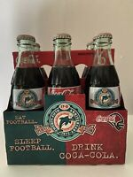 MIAMI DOLPHINS 25 Year Anniversary 1972 Perfect Season Coca Cola 6 pack Bottles