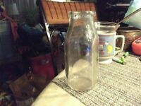 14#N Vintage Half Pint Milk Bottle Meadow Gold Milk Dairy Bottle 1950s