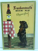 Vintage Frankenmuth Beer Sign quot;Dog Gone Goodquot; Tin Over Cardboard Michigan