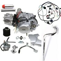 125cc 4 stroke ATV Engine Motor Kit Semi Auto w Reverse Electric Start w Wiring