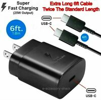 25w Type USB C Super Fast Wall Charger6FT Cable For Samsung Galaxy S20 S21 5G $13.21
