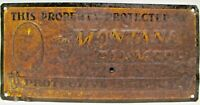 This Property Protected by MONTANA FARMER Protective Services Old Tin Sign