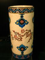 Longwy French Art Deco Vase 10quot; tall Hand Signed and Marked