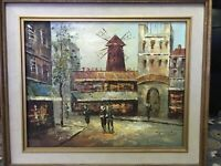 Vintage Original Large Oil Paiting By Artist P. G. Tiele On Board And Framed C $350.00