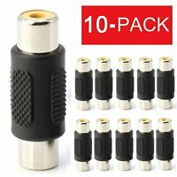 10 Pack AV RCA Audio Video Female to Female Jack Coupler Adapter Connector $3.95
