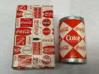**NICE** Coca Cola Miniature Figurines 1960#x27;s Multi Diamond Coke Can #157988